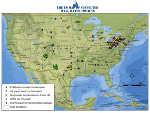 US Map of Suspected Well Water Impacts - V1