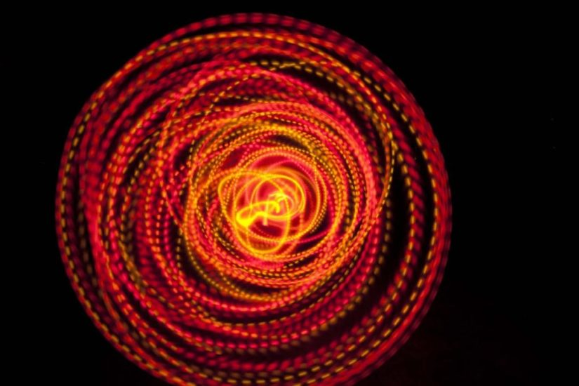 12 Strobing LED Hula Hoop Poly Pro The Solar Flare