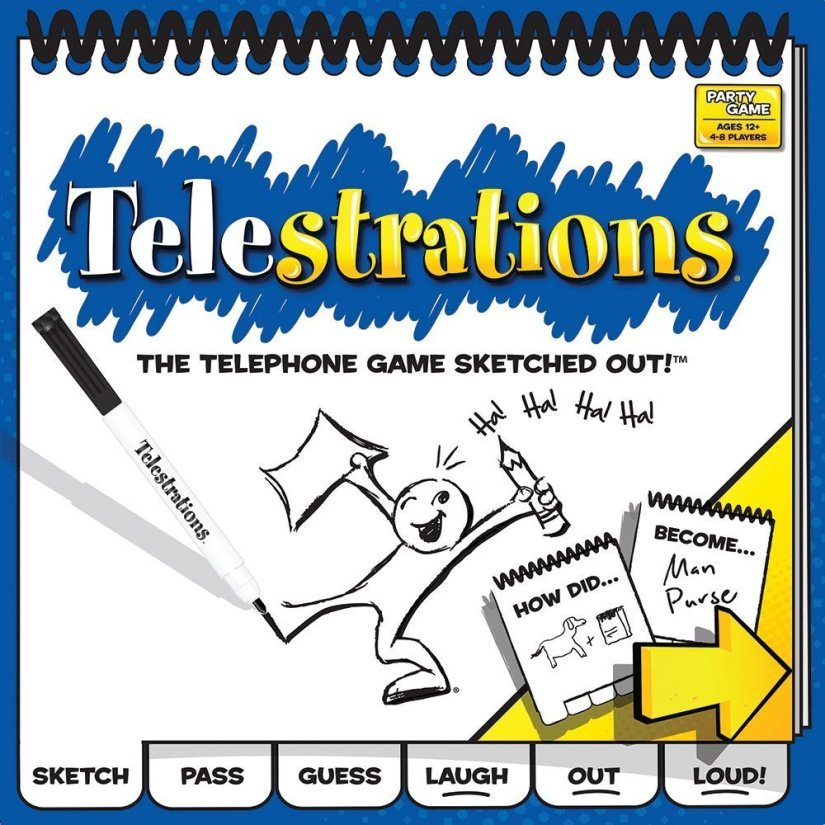 Telestrations 8 Player - The Original - art games