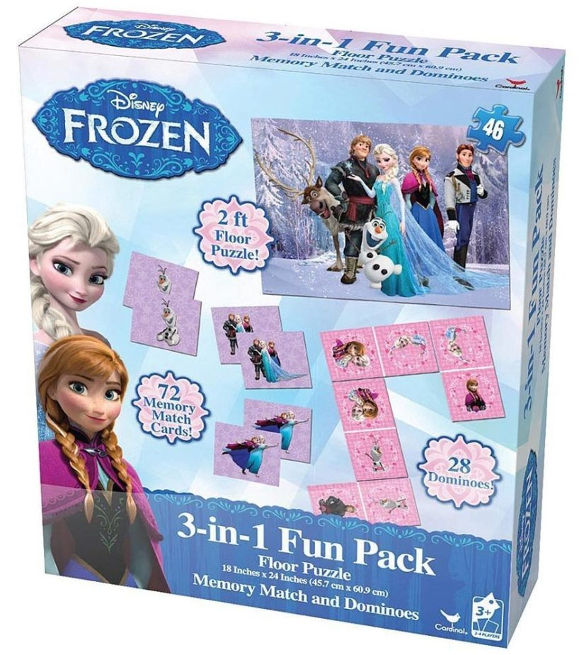 Disney Frozen 3 in 1 Activity Game Box - games for girls