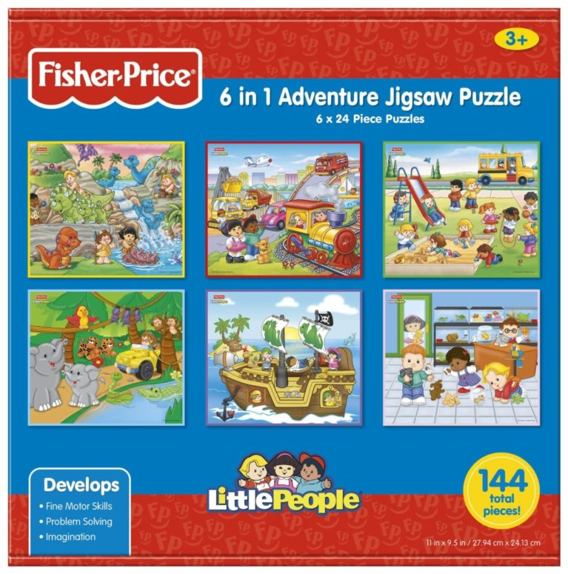 Fisher-Price 6-in-1 Adventure Jigsaw Puzzles