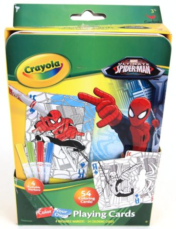 Crayola Color Your Own Spiderman Playing Cards