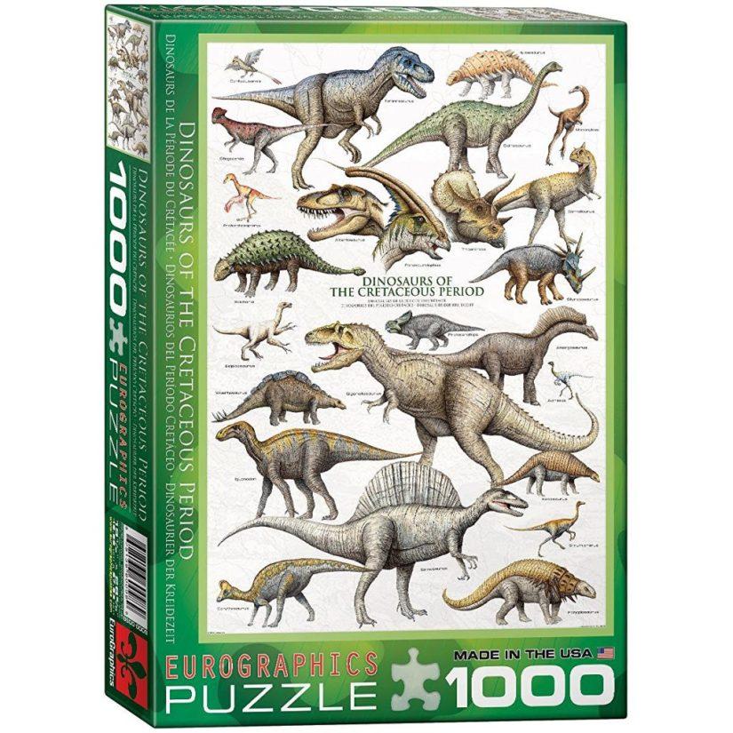 EuroGraphics Dinosaurs Cretaceous 1000 Piece Puzzle - jigsaw puzzles