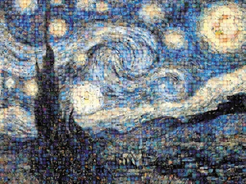 Buffalo Games Photomosaic - Starry Night - jigsaw puzzles