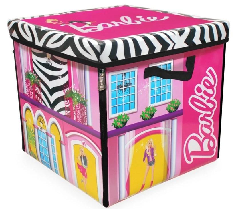 Neat-Oh! Barbie ZipBin Doll Dream House Toy Box & Playmat