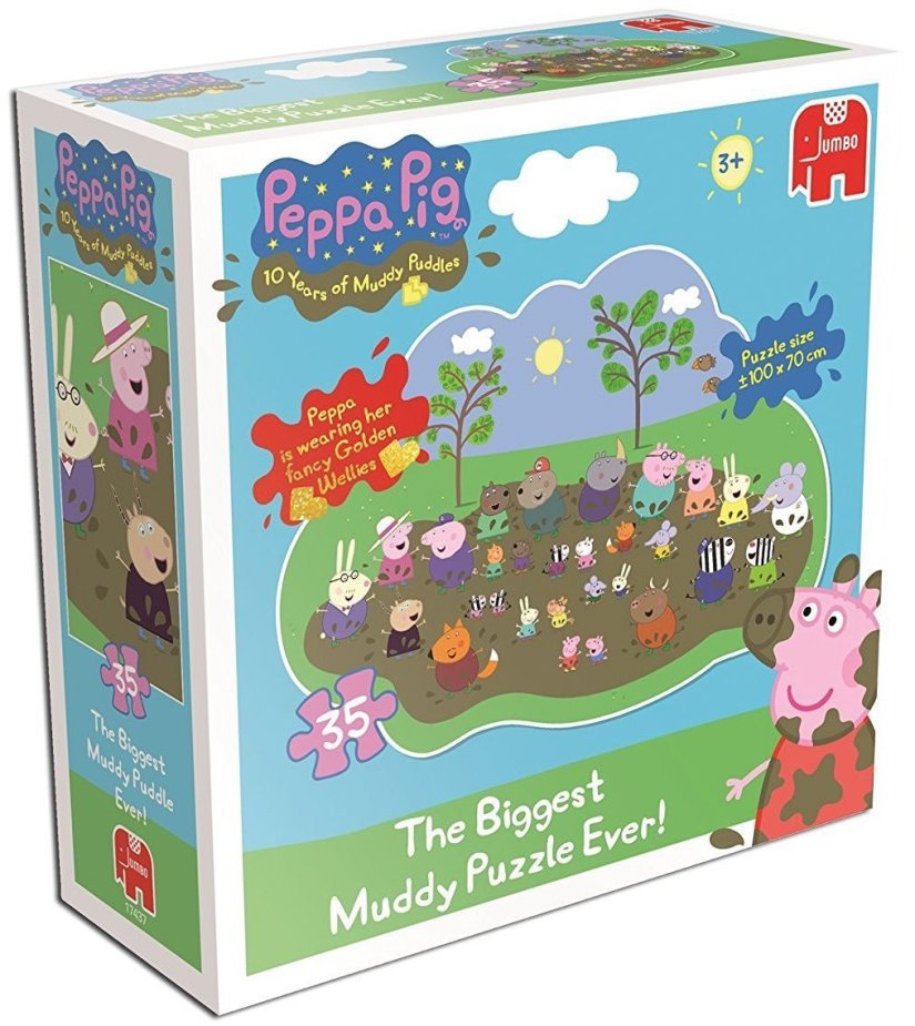 Peppa Pig Giant Muddy Puddle Jigsaw Puzzle