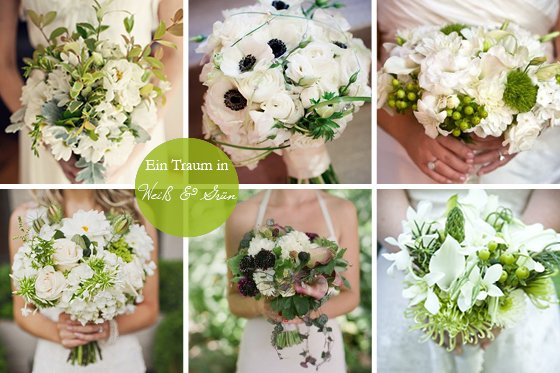 Brautstrue die zweite Runde wei und grn  ein Klassiker  Frulein K Sagt Ja Hochzeitsblog