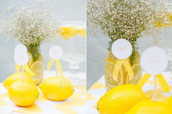 Zitronengelbe Ideen fr eine Sommerhochzeit  Frulein K