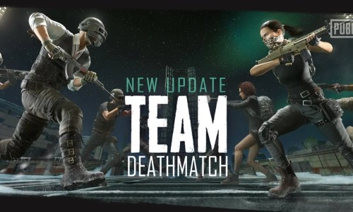 Two opposing players holding guns for PUBG Team Deathmatch