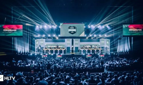 A packed stadium of an ESL tournament