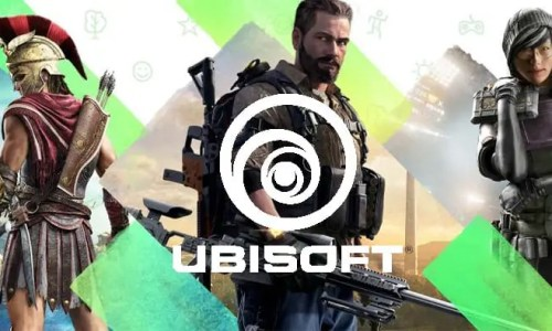 Photo of game character from Aassin's Creed, The Division and Rainbow Six Siege with Ubisoft logo
