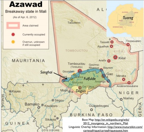 Azawad Map