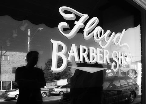 Downtown Floyd Virginia: the Barber Shop