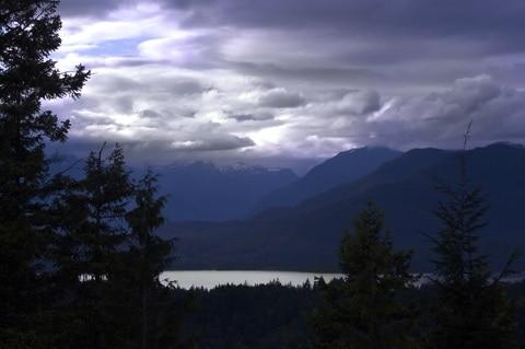 Window View on Bowen Island near Vancouver, BC