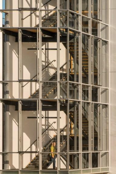 """The Bullitt Center's """"irresistible stairway."""" Bullitt Center photo."""