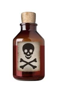 Old fashioned drug bottle