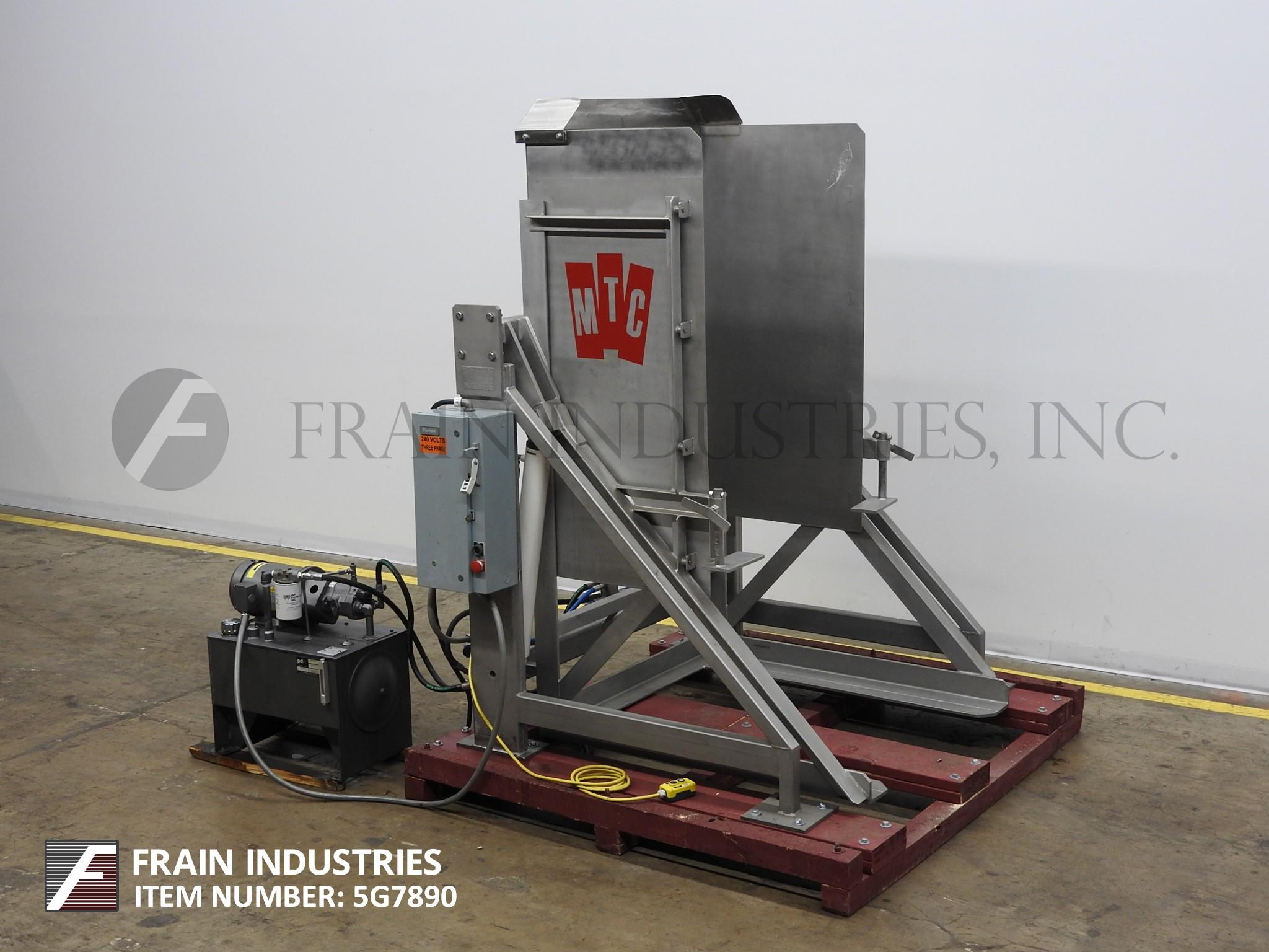 MTC  Materials Transportation Material Handling Tote Dump