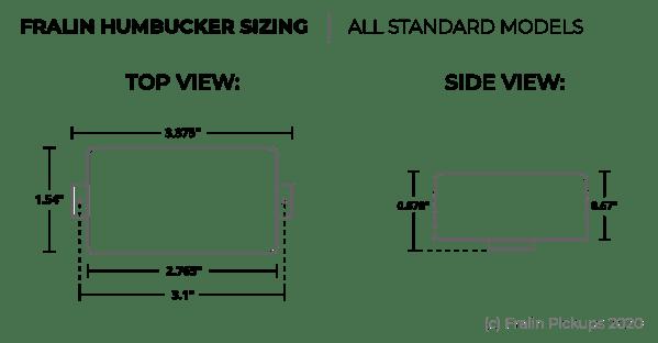 Humbucker Dimensions