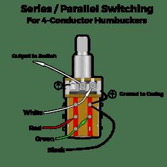 3 Wire Pickup Wiring Diagram Sony Xplod 1200 Watt Amp Fralin Pickups Series Parallel Humbucker Mod For Guitar Push Pull Modification Humbuckers