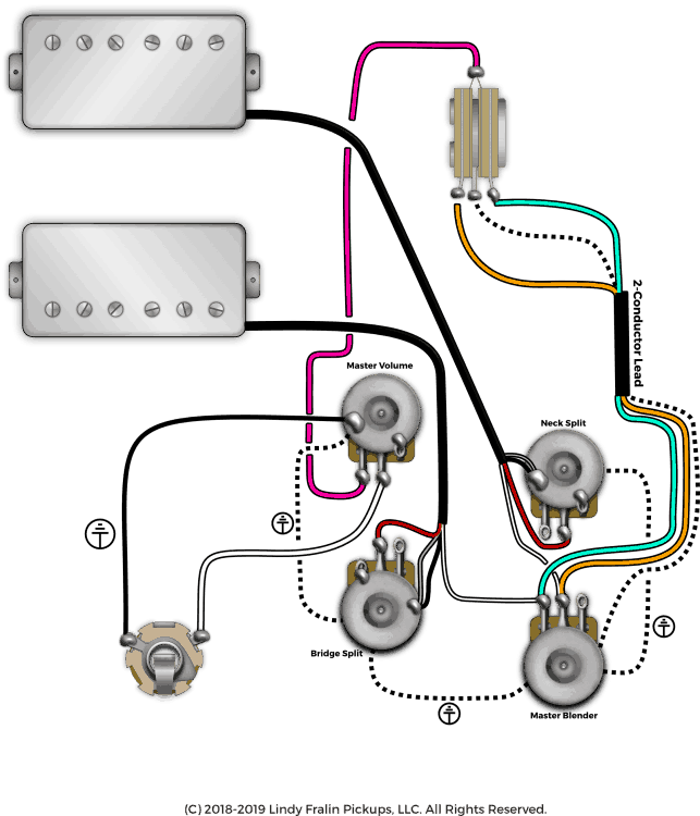 fralin pickups unique dual humbucker wiring setup with