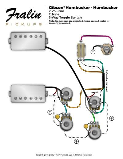 3 conductor pickup wiring diagram 2000 ford windstar lindy fralin diagrams guitar and bass gibson les paul 50 s style pickups