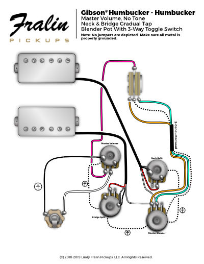 gibson les paul junior wiring diagram m4 parts lindy fralin diagrams guitar and bass with gradual split blender 2 p90