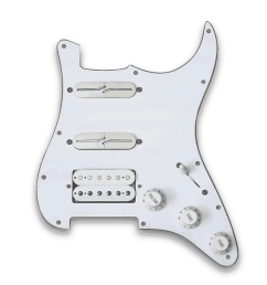 customizable prewired h s s strat split blade pickguard [ 1024 x 1024 Pixel ]