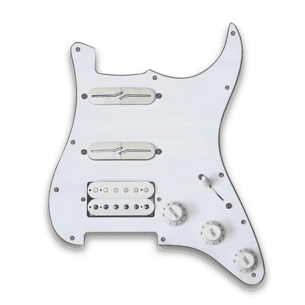 medium resolution of customizable prewired h s s strat split blade pickguard