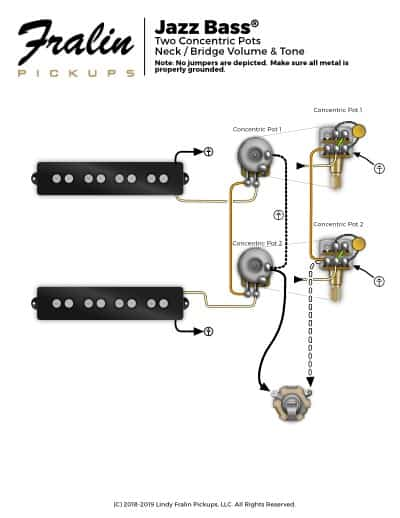 stacked pots wiring diagrams diagram for motor lindy fralin guitar and bass jazz with concentric pj