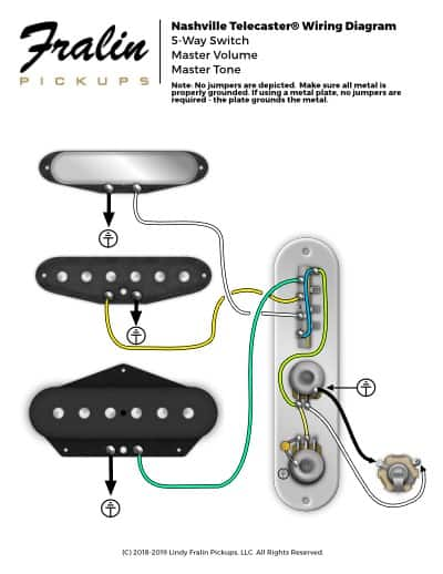 fender stratocaster wiring diagram hss 92 ford f150 radio lindy fralin diagrams guitar and bass nashville telecaster broadcaster pickups