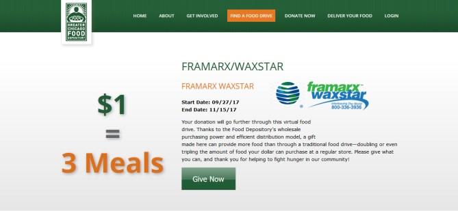 Framarx Food Drive