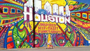 our gal pal Courtney D. Jones at the Houston is Inspired mural.  Best pic of the event.