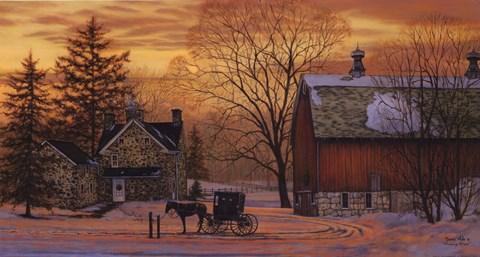 Evening Visit Artwork by Bonnie Mohr at FramedArtcom