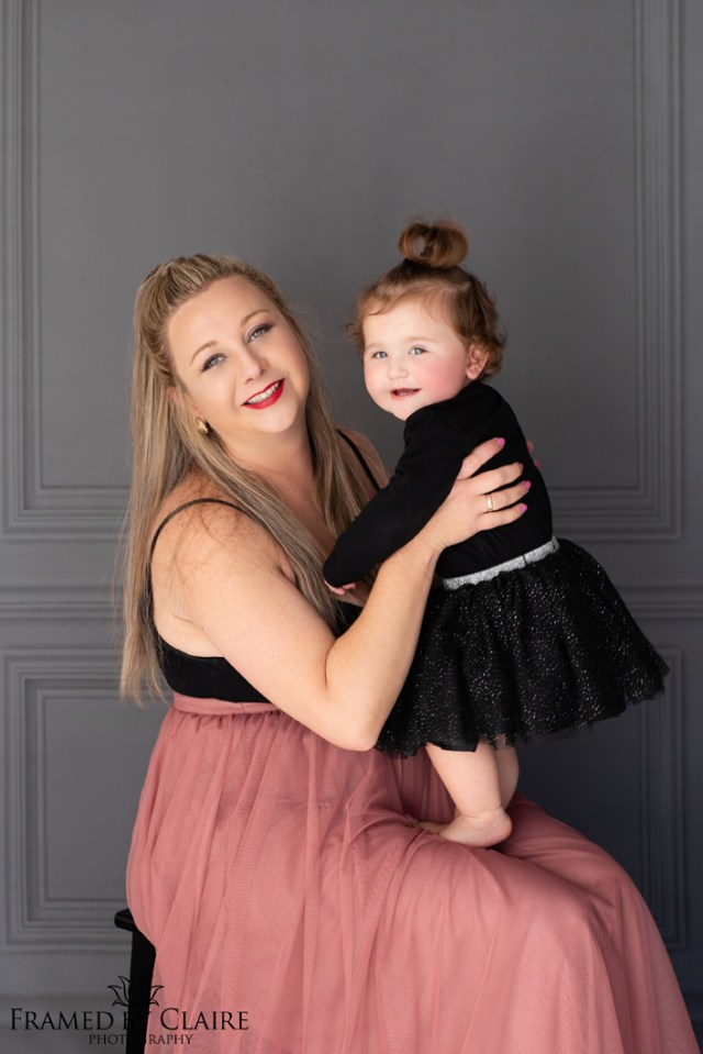 Glam portraits in studio mommy & Me