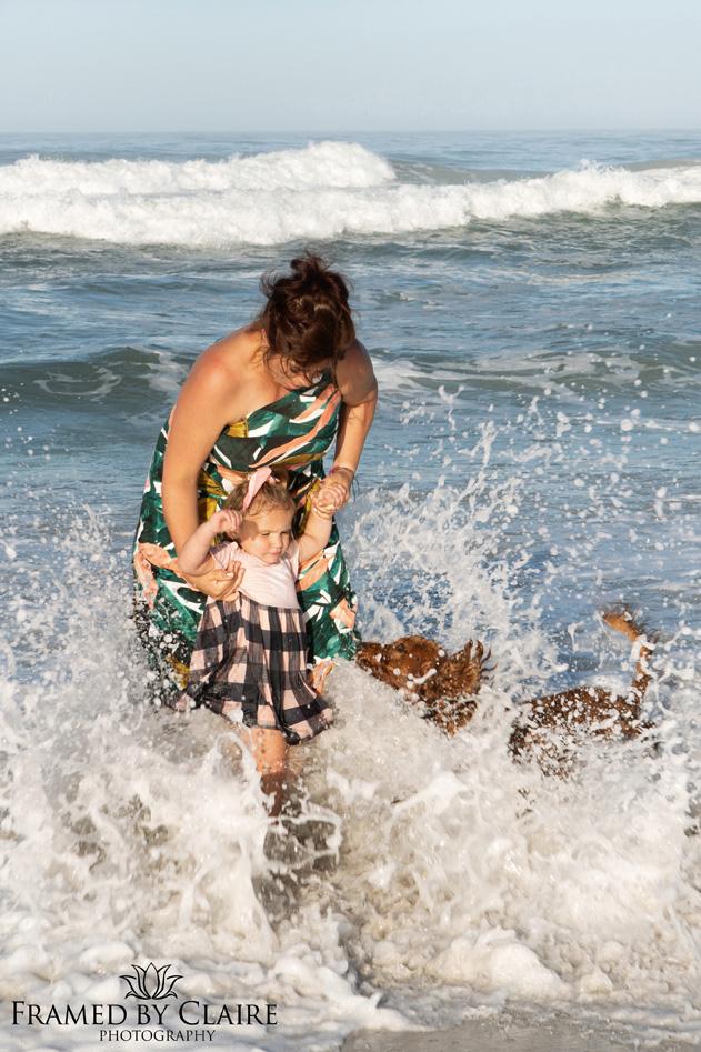 Fun Family beach portraits in Cape Town
