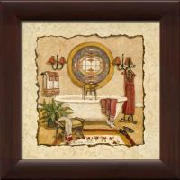 Art Deco Bath I - Framed Canvas Art
