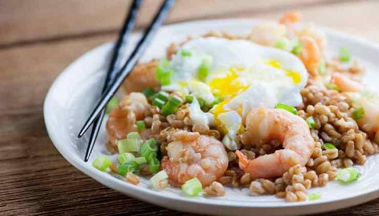 shrimp fried farro