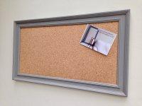 Large cork pin board. Cork bulletin board. Cork memo board ...