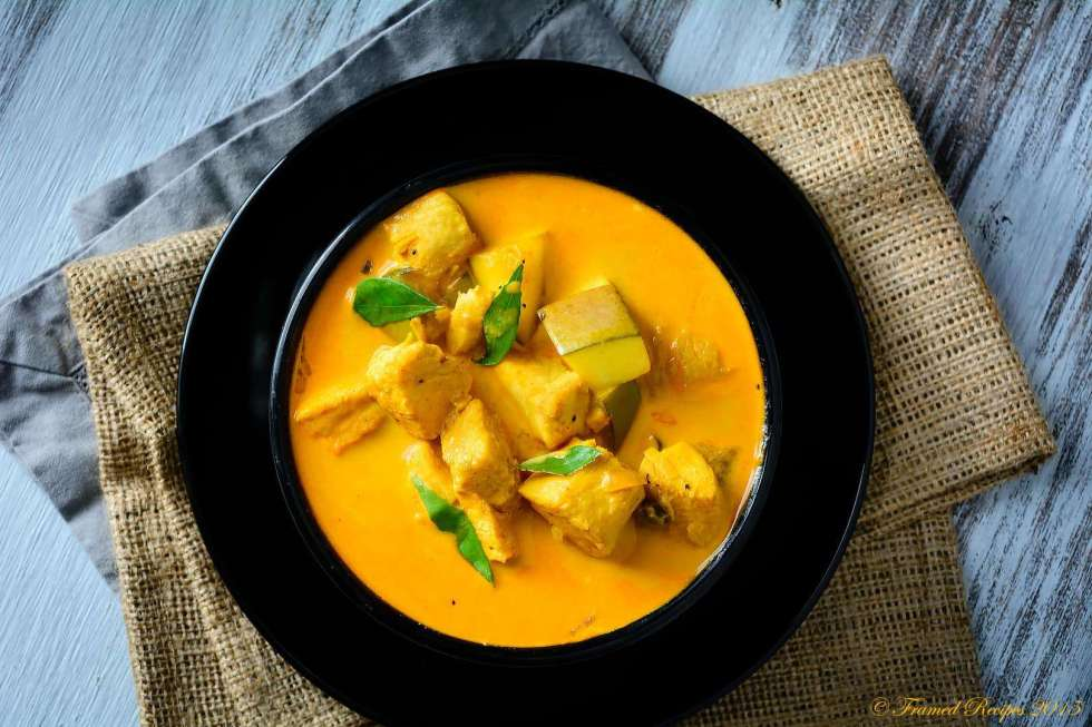 kerala style fish curry with coconut milk.