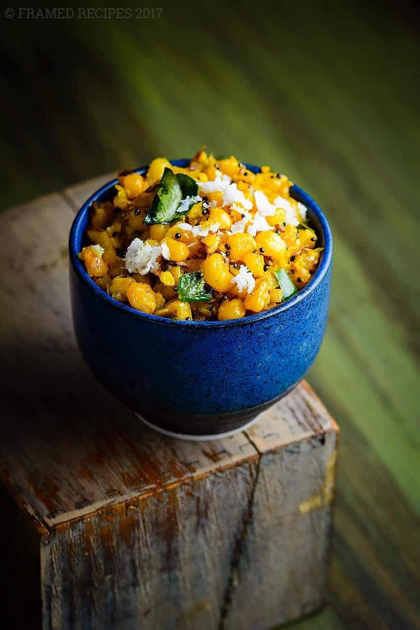 Turmeric Sweet Corn Stir Fry