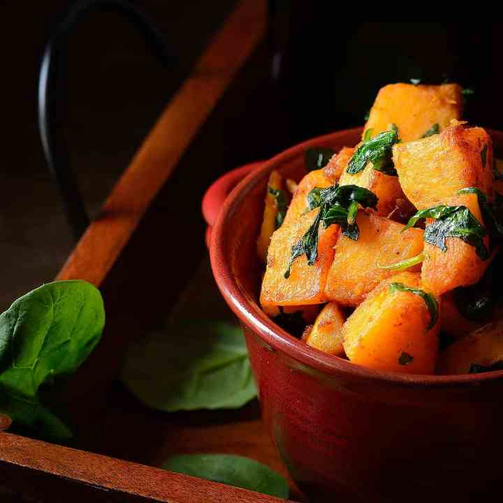 Pan_Roasted_Butternut_Squash_with_Baby_Spinach