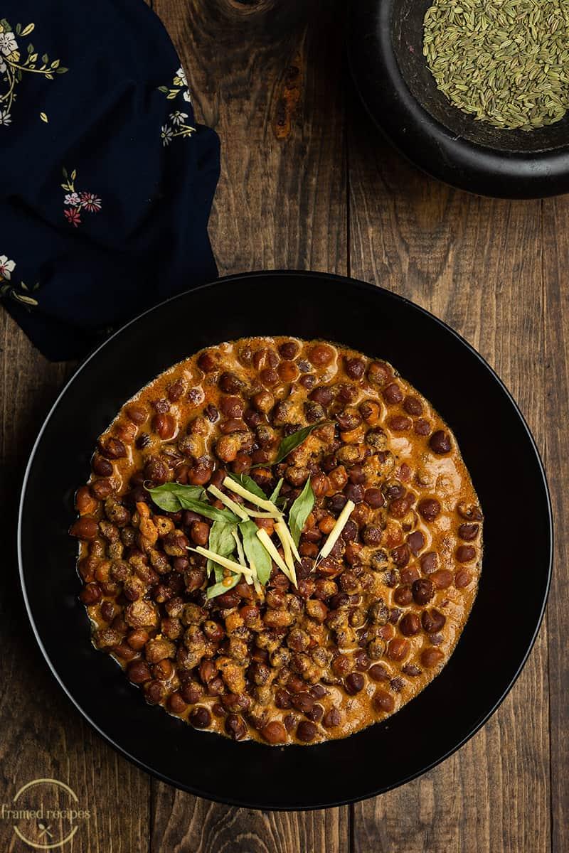 kala chana curry with coconut