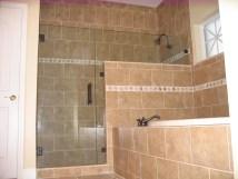 Shower Door With Notch Panel - Allservices Frameless Glass