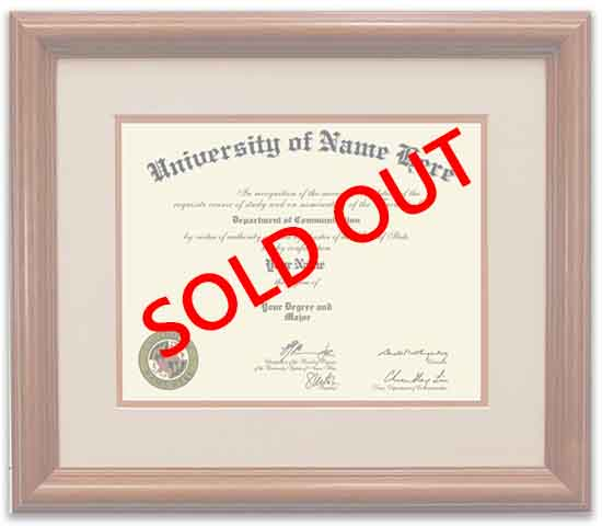 Custom Picture Framing Diploma Frames