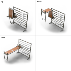 Folding Chair On Wall Kids 3 Piece Table And Set Diy Mounted Fold Up Do It Your Self