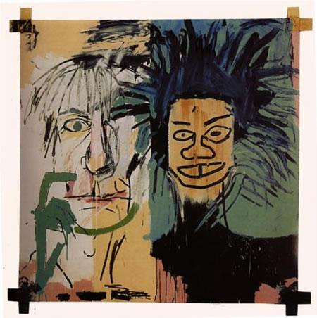 Pittore Jean Michel Basquiat - Dos cabezas