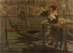 Alessandro Milesi: La traversata o La partenza del marinaio, 1901 (Fondazione Cariplo)