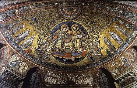 Jacopo Torriti: L'incoronazione (mosaico absidale) della basilica di Santa Maria Maggiore