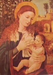 Madonna col bambino: Borgognone