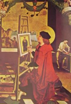S. Luca che dipinge la Vergine: Niklaus Manuel Deutsch 1510 Berna KustMuseum